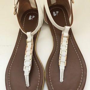 Nordstrom BP white thong sandals -beautiful!